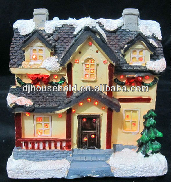 X mas decorated house 6 design assorted