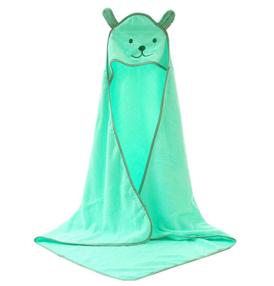 Blancho Bedding Baby Soft Cotton Breathable Bath Towel Kids Bathcloth Cloak Bathrobe 0-7 Years(Light Green)