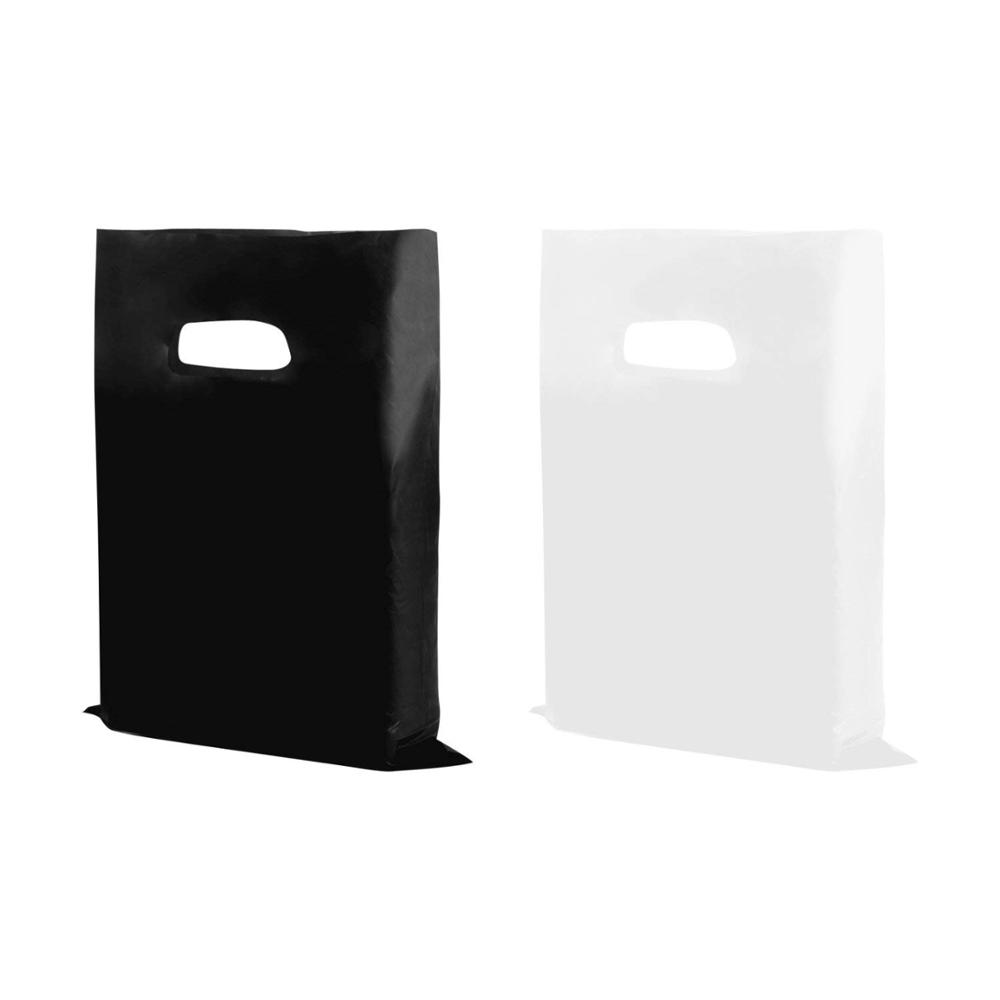 Shopping Goodie Bag, handle bag, for book, clothe,shoes, <strong>black</strong> or white plastic bag