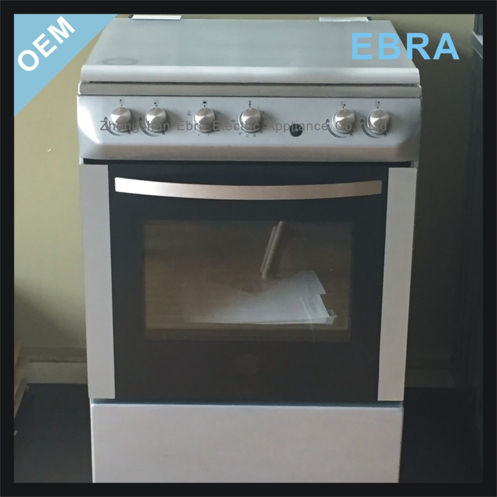 24 inch Home used free standing 4 Burner Gas Range/ free standing gas oven