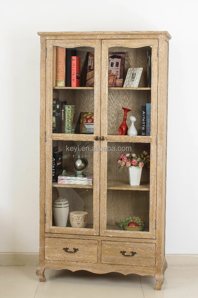 Living Room Showcase Glass Doors Design Cabinet Wooden Design