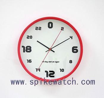 3e12ffa4439 Fantasia design exclusivo plástico 24 horas analógico relógio de parede