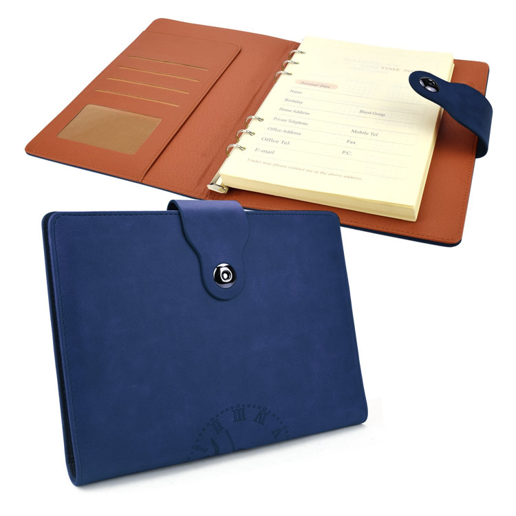 Durable notebooks office refillable reusable notebook leather cover