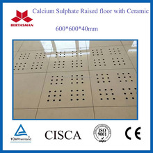concrete raised floor with ceramic finished