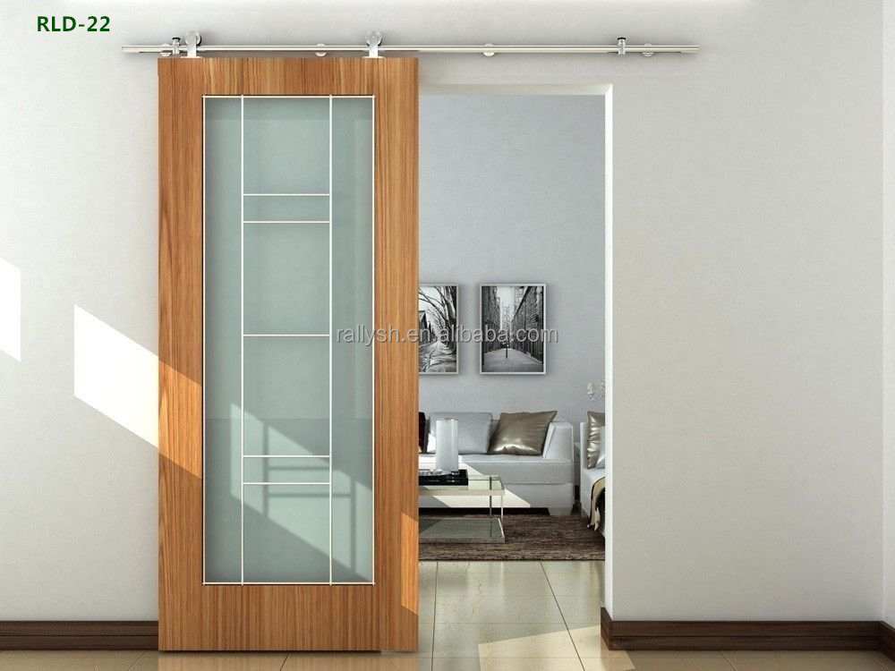 Wood Interior Sliding Barn Door Partition Panel Design