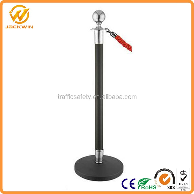 Stainless Steel Airport Stanchion Queue Barrier Post With 2m Retractable Belt