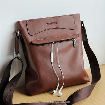 39d58a5fae30 Hautton wholesale genuine leather medium sling shoulder bag men messenger  bags