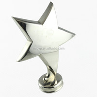 Shiny silver metal star trophy for souvenir gifts
