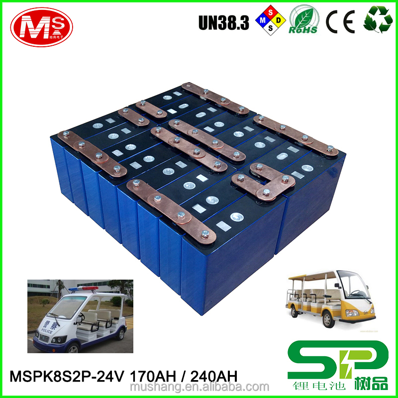 High-efficiency rechargeable 24v100ah Lithium ion battery with PCM For Electric Sightseeing car