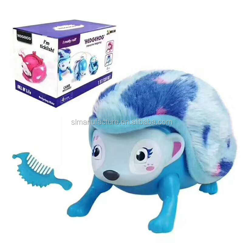 2017 Hot Selling Crawl Induction Education Hedgehog Electronic Toy For Kids
