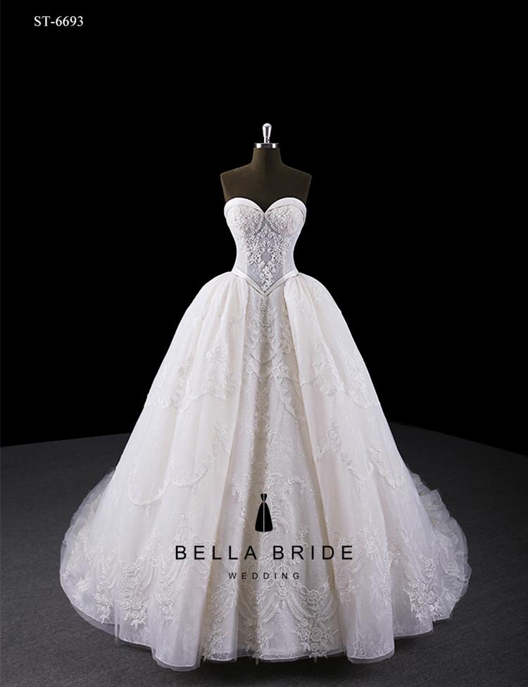 Heavy Beaded Wedding Dress Yiwu Handmade Delicate Bridal Wedding