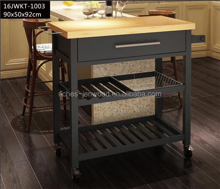 Wood Kitchen Island Trolley With Wheels - Buy Kitchen Trolley,Kitchen  Trolley With Wheels,Wood Kitchentrolley Product on Alibaba.com
