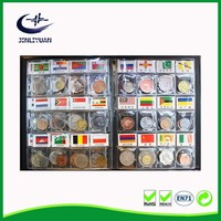 High quality inner page design leather pvc coin collecting Book album