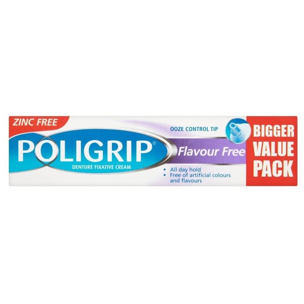 Poligrip Denture Fixative Cream Flavour Free (50g) - Pack of 6