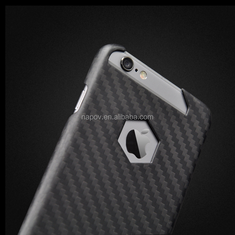 9cdcdc097d2 3 K Sarga 100% Real Carbon Fiber Cubierta Móvil,Para Apple Iphone 6 ...