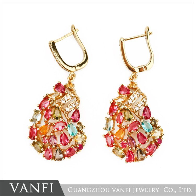 Colorful Aaa Cubic Zirconia Fancy Design Latest 2 Gram Gold ...