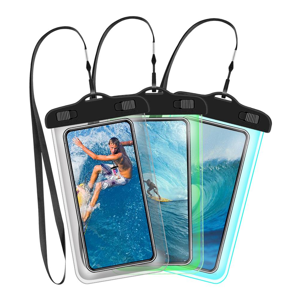 Waterdichte Mobiele Telefoon Case Voor Iphone X 8 7 Clear Pvc Verzegelde Onderwater Mobiele Smart Phone Dry Pouch Cover