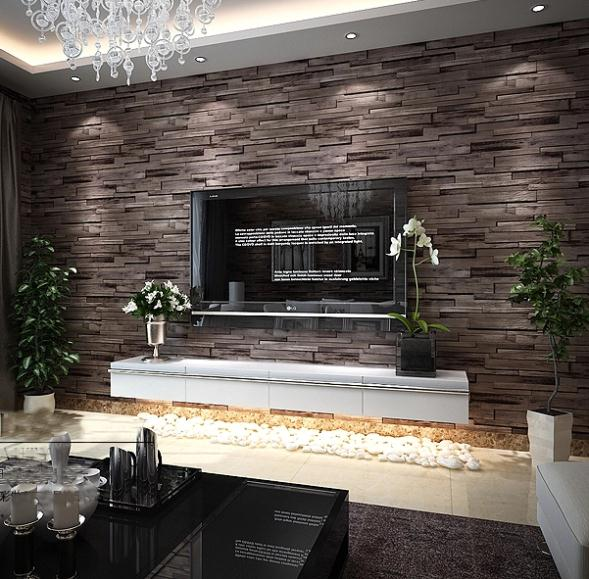 Anime Bedroom Drawing Stone Accent Wall Bedroom Bedroom Decor Men Cute Apartment Bedroom Decorating Ideas: Rustic Modern 3d Room Faux Brick Wall Wallpaper Bedroom