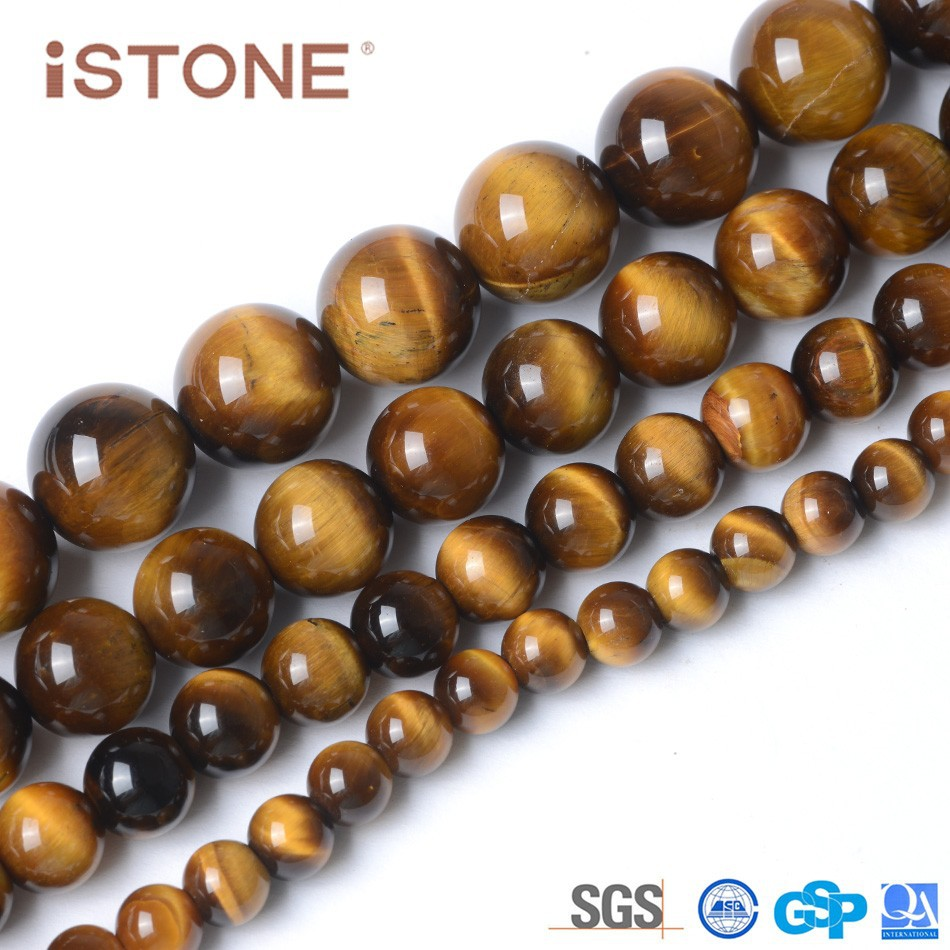 Wholesale 10mm Round Rough Tiger Eye for Jewelry Making