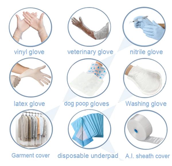 医療サプライヤー滅菌使い捨てニトリル黒外科手袋