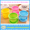 Portable non-toxic collapsible silicone drinking cup with lid