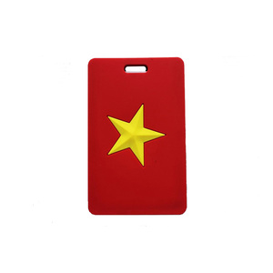 Vietnam flag rubber PVC airline travelling luggage tag