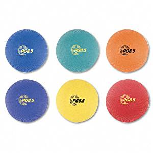 Champion Sports : Playground Ball Set, Nylon, Assorted Colors, Six per Set -:- Sold as 2 Packs of - 6 - / - Total of 12 Each