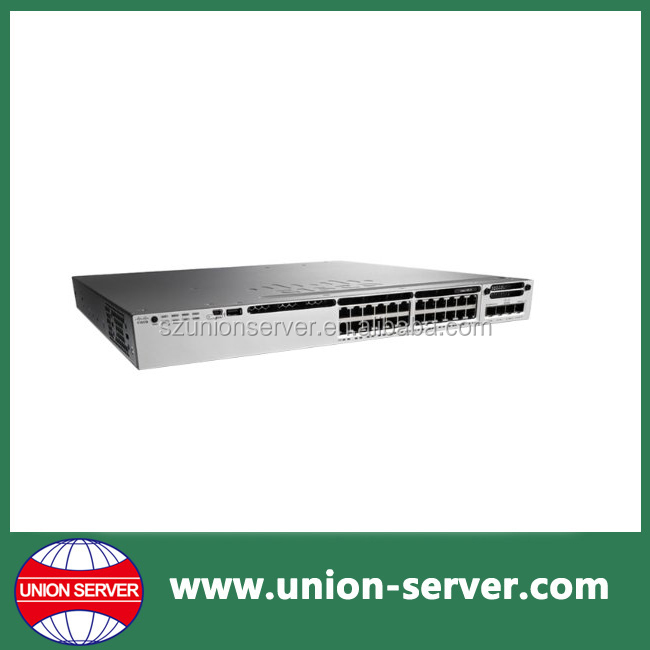 24 Port 10/100/1000 Ethernet PoE+ Switch L3 WS-C3850-24P-E