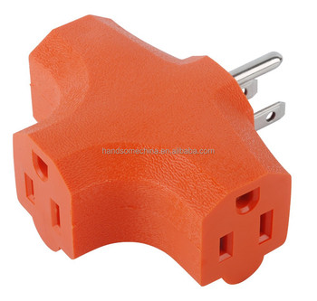 3 Way Outlet Wall Plug Adapter (t Shaped Wall Tap) 3 Prong Ul ...