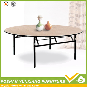 10 Person Folding Wooden Round Table For Al