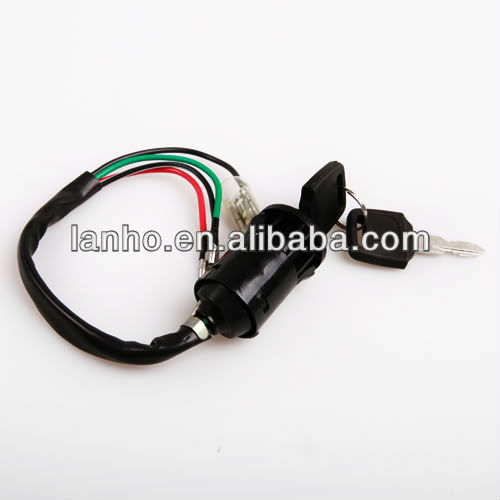 Brand New 4 Wires Key Ignition Switch For Motorcycledirtbike Or