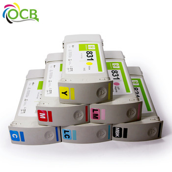 Ocbestjet 831 Recycle Compatible Printer Ink Cartridges for HP 831 Latex 300 310 330 360 370 Remanufactured Printer