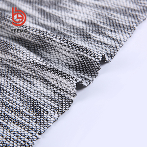 Simple design and high quality fabric 100% polyester slub hacci sweater knit fabric