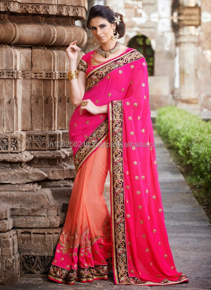 Indian Reception Wear Saree Bollywood Saree Bridal Saree R7603 Buy