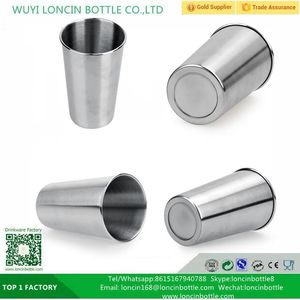 500ML Stainless Steel Cups 16oz Tumbler Pint cup Coffee Bar Wine Hand Cup Drinking Accessories