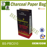 Two layers kraft paper bag for coal selling in Wal-mart