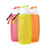 mixed color Outdoor Portable water bottle bpa free,silicone running water squeeze bottle sports