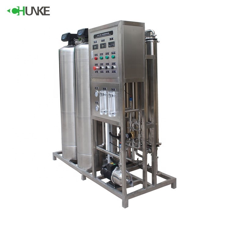 1000 Lph Full Automatic Stainless Steel Ro Water Treatment Distilled Pure Machine Price