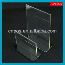 desktop acrylic displaying stand for supermarket