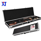 Durable customized size storage box aluminum instrument keyboard double rifle gun case with foam