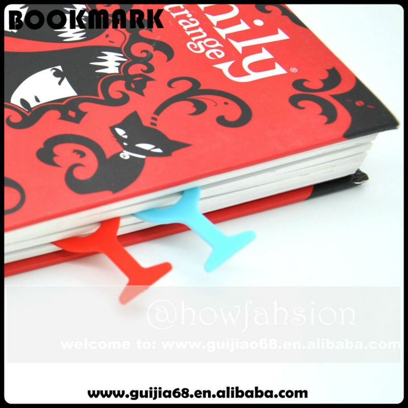 best seller silicone gift bookmark /different style of bookmark