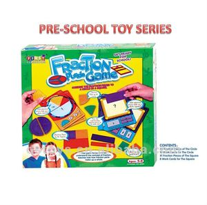 school educational learning math toys plastic fraction puzzle game QS100905130
