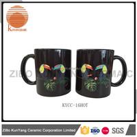 Personalized ceramic coffee mug without handle