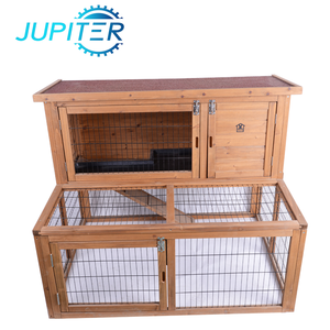 Asphalt proof outdoor industrial wooden rabbit hutch with tray