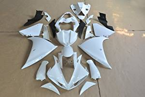 Wotefusi Brand New Motorcycle ABS Plastic Unpainted Polished Needed Injection Mold Bodywork Fairing Kit Set For Yamaha YZF R1 2009 2010 2011 White Base Color