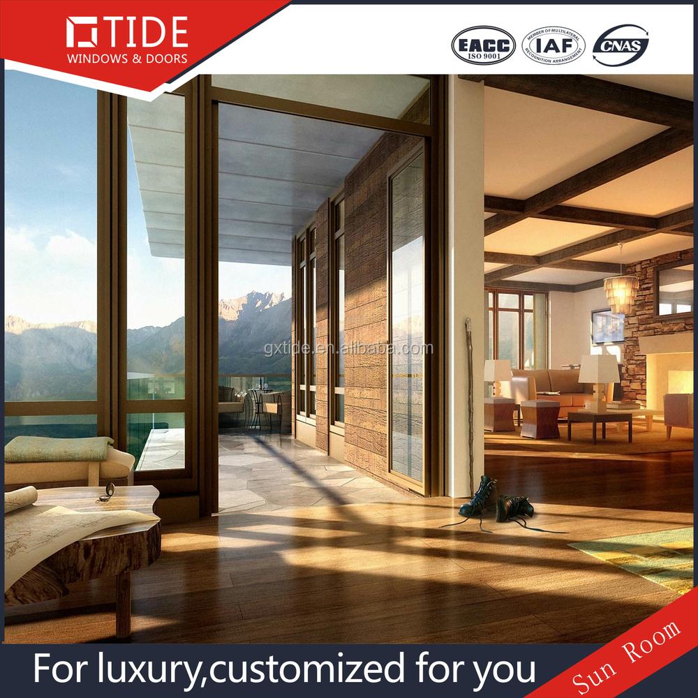 Groene huis tuin serre, warmte isolatie aluminium hout glas kamer ...