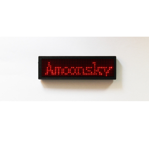 cheap price red led tags programmed led name board led scrolling message card usb recharge battery digital name tag