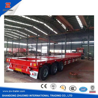 Tri-Axle 40FT Utility Truck Container Flatbed Semi Trailer