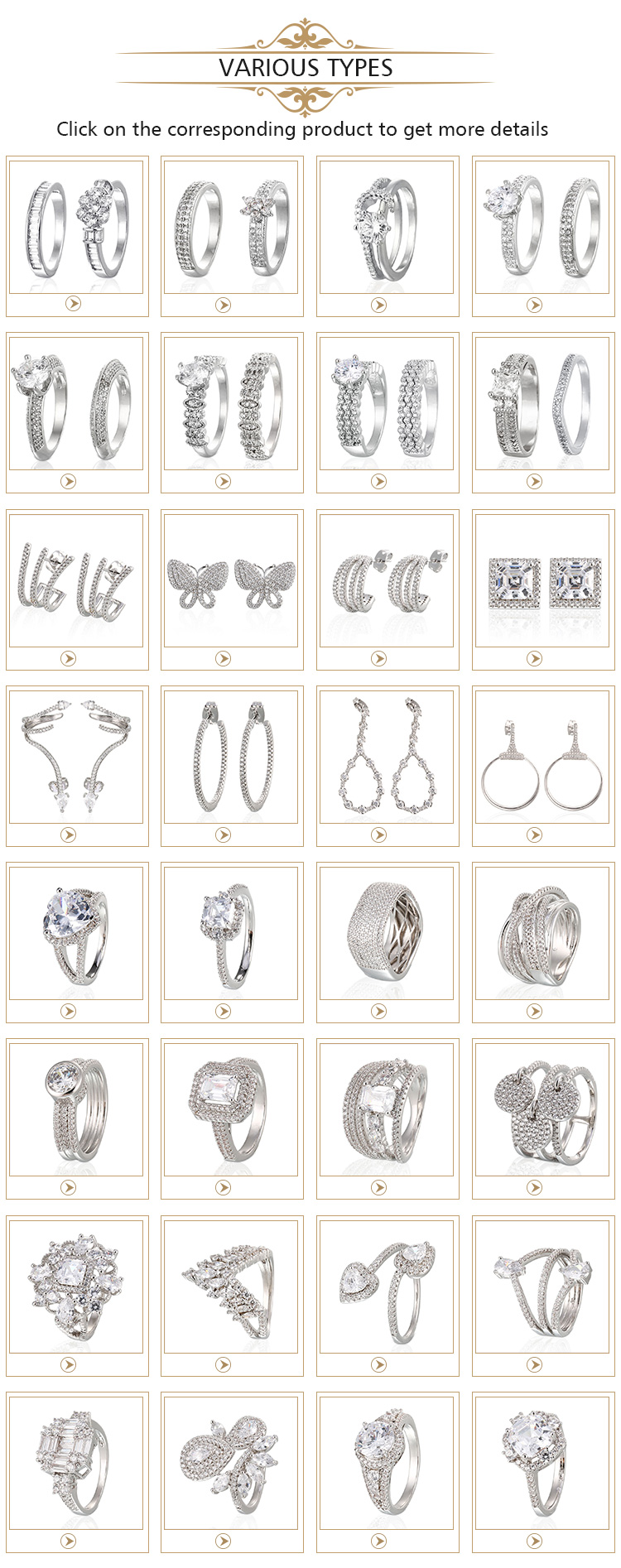 Cheap Wholesale Indian Fashion White Gold Silver Diamond Stud Long Earrings For Girls