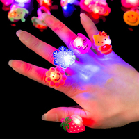New Creative Luminous Rings Children's Toys Flash Gifts LED Cartoon Lights Glow Cosplay Party Led Accessories